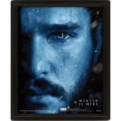 Poster 3D Lenticular Game of Thrones - Jon Snow / Night King 25x20 cm