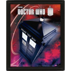 Poster 3D Lenticular Doctor WHO - Tardis Flying - 25x20 cm