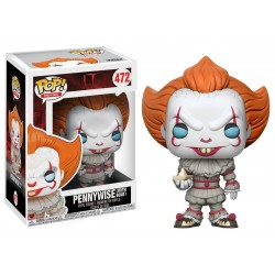Funko Pop Movies - IT - Pennywise with boat - blue eyes