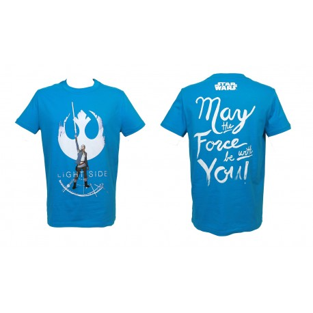 T-shirt Star Wars - The Last Jedi - Rey Light Side blue - Taille L