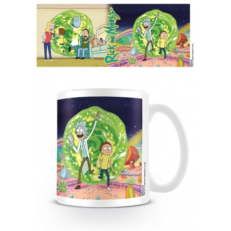 Mug Rick & Morty - Portal - 320ml