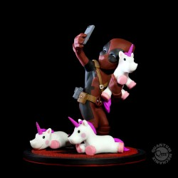 Figurine Q-Fig - Marvel - Deadpool & Unicorn Selfie - Quantum Mechanix - Prix préco
