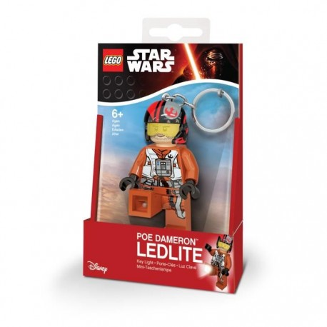 Porte-clé LED - Lego : Star Wars - Poe Dameron Key Light with batteries - 8cm