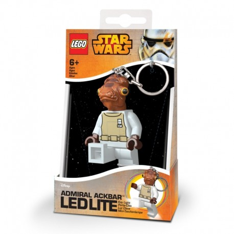 Porte-clé LED - Lego : Star Wars - Admiral Ackbar Key Light with batteries - 8cm