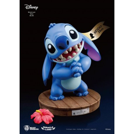 Statue résine Disney : Miracle Land - Stitch - Beast Kingdom - 33cm