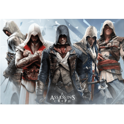 "Poster Assassin's Creed ""Groupe"" 91,5x61 (roulé filmé)"