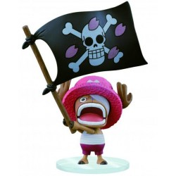 Figurine One Piece Dramatic Chopper drapeau - 16cm - BAN25421A