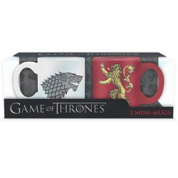 Set 2 mini-mugs Game of Thrones - Stark & Lannister - 110ml