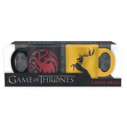 Set 2 mini-mugs Game of Thrones - Targaryen & Baratheon - 110ml
