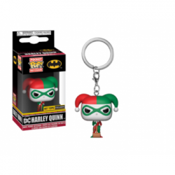 Funko Pop Keychain DC Comics Harley Quinn Holiday Limited