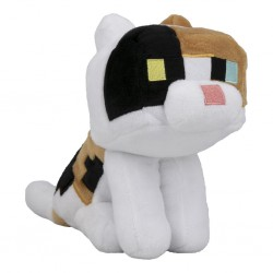 Peluche officielle Minecraft - Calicot Cat - 18cm