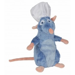 Peluche officielle Disney - Ratatouille - Remy avec toque 25cm