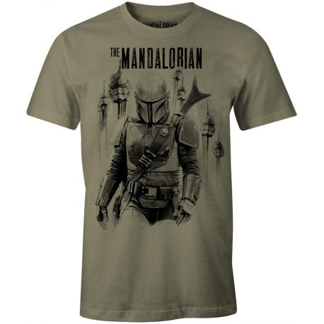 T-shirt Star Wars The Mandalorian (vert) taille L