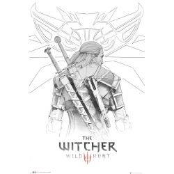 Poster The Witcher Geralt sketch 61x91