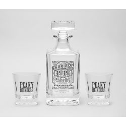 Decanter Set Peaky Blinders  Carafe avec 2 verres