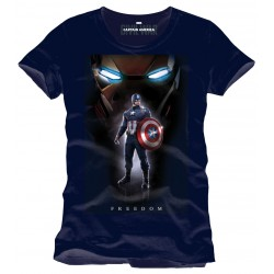T-shirt Marvel Captain America Civil War Freedom Taille M